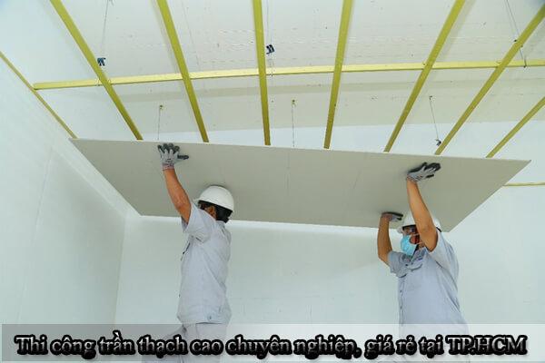 Thi công trần thạch cao chuyên nghiệp, giá rẻ tại TP.HCM